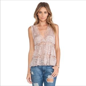 Free People Intimates Deep V Trapeze Cami